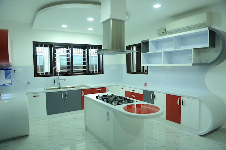 Cocinas de estilo moderno de Premdas Krishna Moderno