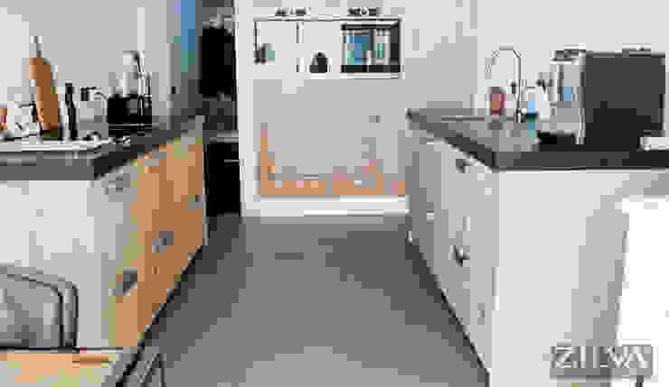 Woonbeton | kitchen Industriële keukens van Zilva Vloeren Industrieel Beton