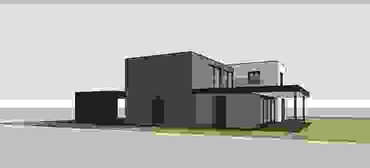 Zijaanzicht moderne villa Moderne huizen van Villa Delphia Modern