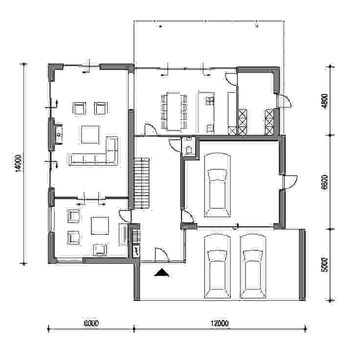 Plattegrond moderne villa Moderne huizen van Villa Delphia Modern