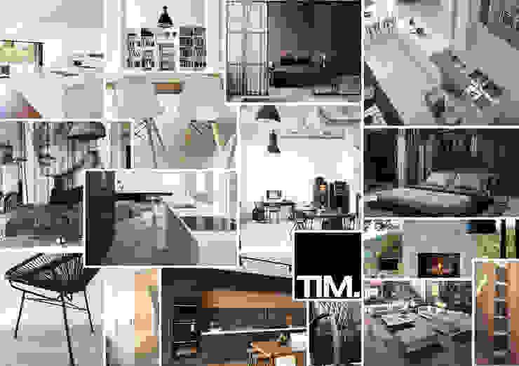 Amsterdam Apartment Moderne woonkamers van Tim Knubben | Architectural Designer Modern