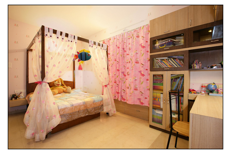 The Pink Room for their Daughter Navmiti Designs Modern style bedroom