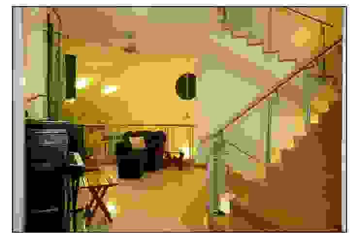 Navmiti Designs Modern corridor, hallway & stairs