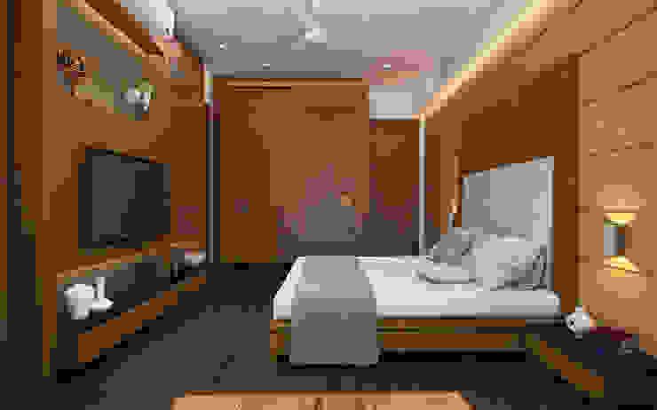 モダンスタイルの寝室 の INCEPT DESIGN SERVICES モダン