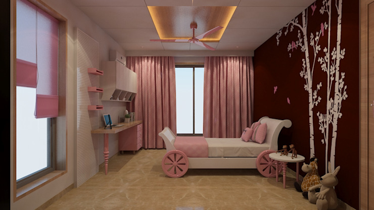 DR. BHAVESHBHAI CHUAHAN RESIDENCE Modern style bedroom by INCEPT DESIGN SERVICES Modern