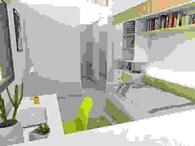 Dormitorio secundario. Línea SoHo1 de campos complementarios Moderno