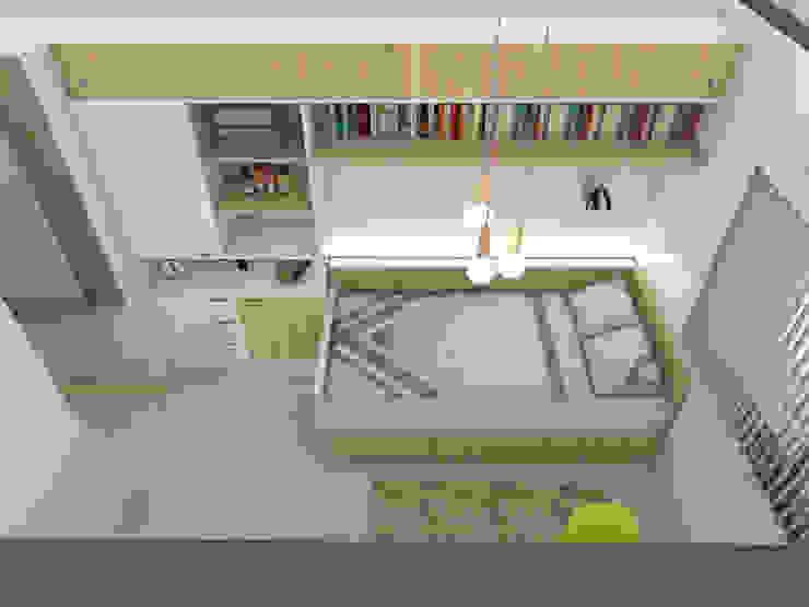 Dormitorio secundario. Línea SoHo1 de campos complementarios Moderno Derivados de madera Transparente
