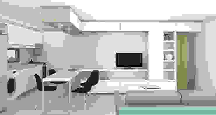 Living departamento de un dormitorio. Línea SoHo1 de campos complementarios Moderno