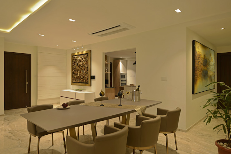Minimalist dining room by homify Minimalist Glass