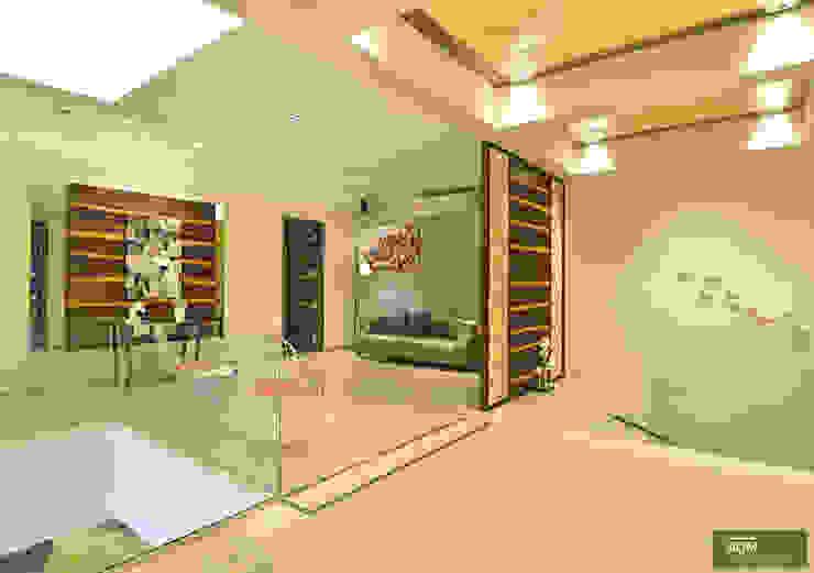 Modern corridor, hallway & stairs by homify Modern Limestone
