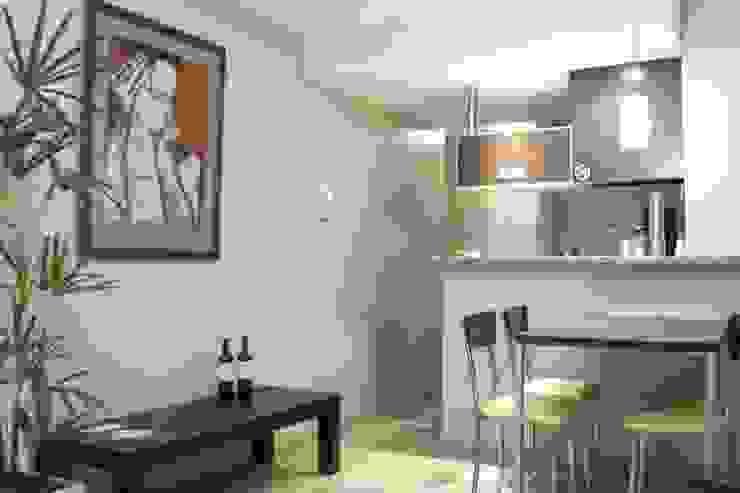 EDIFICIO MODIGLIANI Livings modernos: Ideas, imágenes y decoración de sm arquitectura Moderno