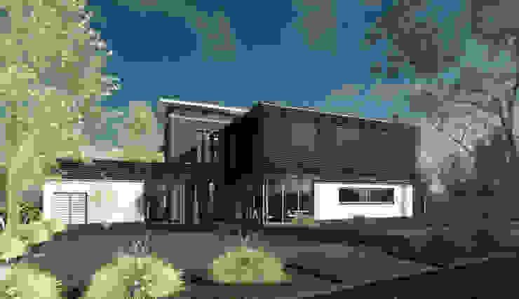 Moderne luxe woonvilla Moderne huizen van ArchitectenGilde Modern Steen
