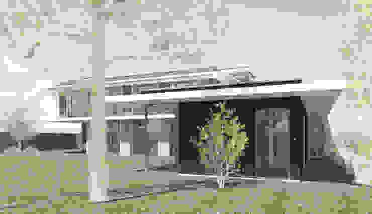 Binnenzwembad met zonneluifel Moderne zwembaden van ArchitectenGilde Modern Hout Hout