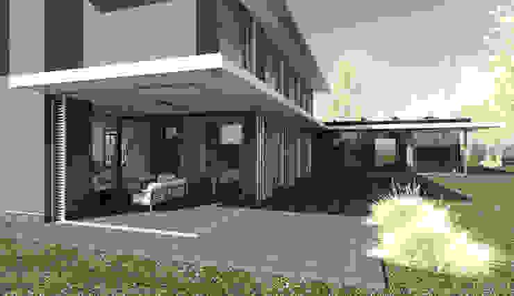Veranda als onderdeel van de woning. Moderne balkons, veranda's en terrassen van ArchitectenGilde Modern Steen