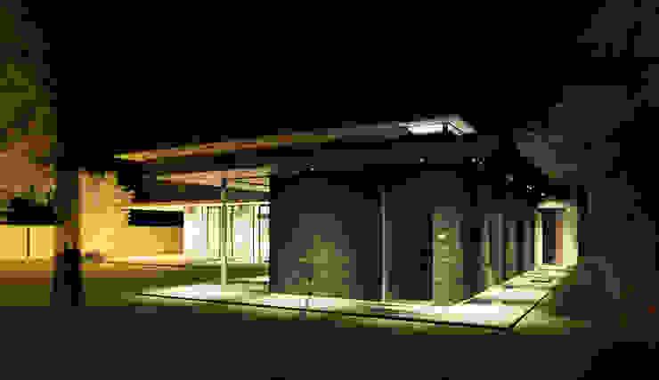 Verlichtingsplan bij nacht woonvilla Moderne zwembaden van ArchitectenGilde Modern Houtcomposiet Transparant