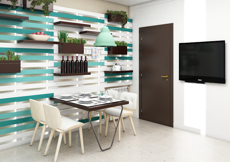 Parete cucina: Cucina in stile  di mumble studio, Eclettico