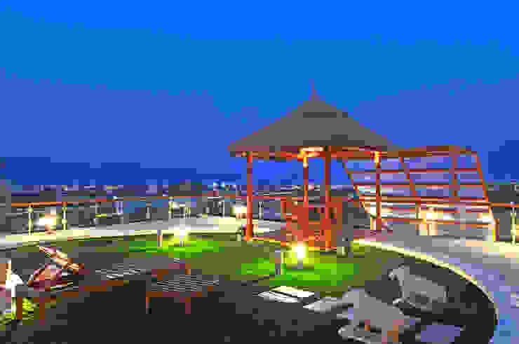 Asian style balcony, veranda & terrace by homify Asian Stone