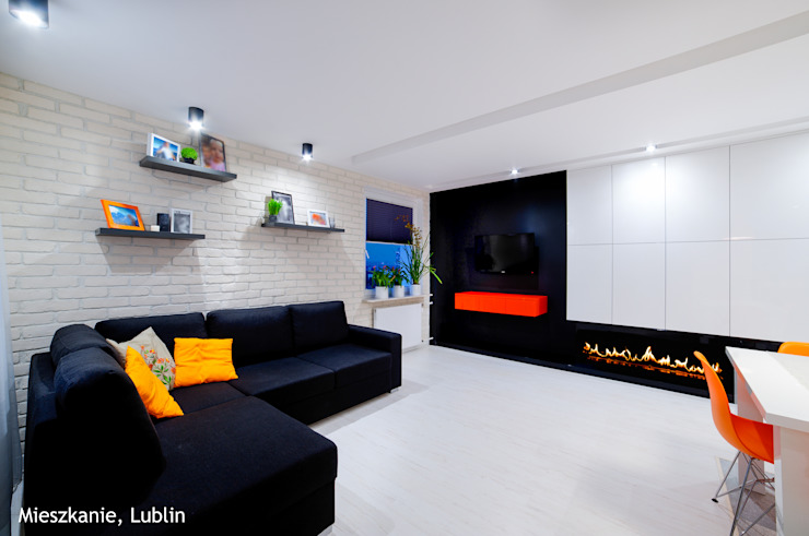 Minimalist living room by Auraprojekt Minimalist