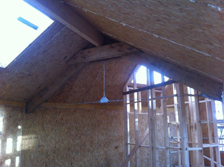 Living Room Roof in progress by Building With Frames Minimalist Wood Wood effect