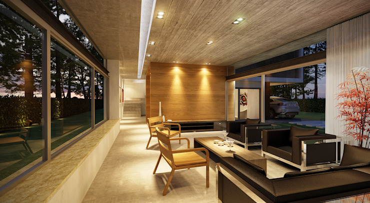 Proyecto Casa RO Casas modernas: Ideas, imágenes y decoración de Estudio Arquitectura Agustín Duarte Moderno