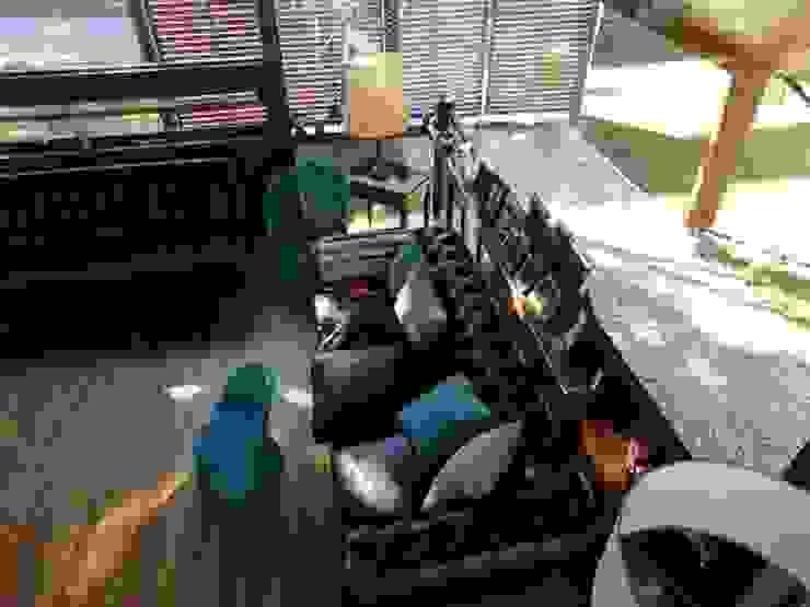 Livings de estilo rústico de juan olea arquitecto Rústico