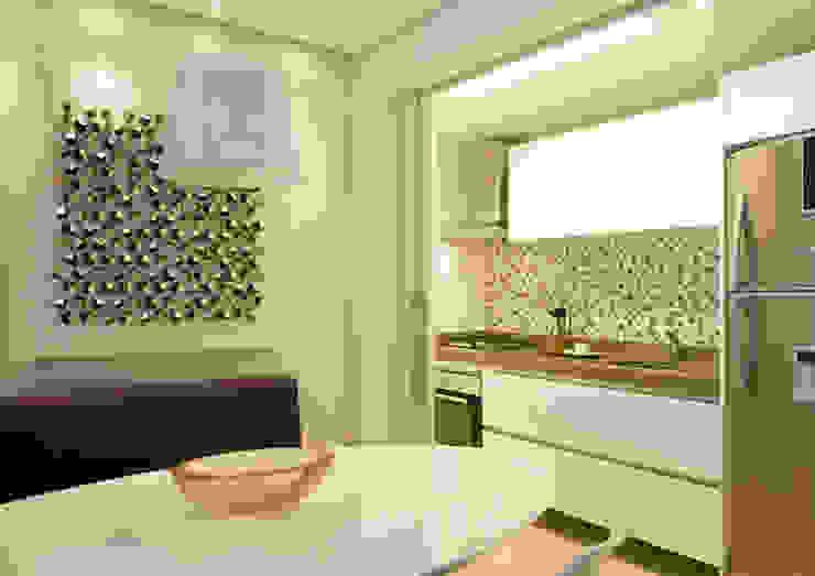 Sala da pranzo moderna di Liliana Zenaro Interiores Moderno Legno Effetto legno