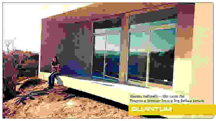 BALCON TERRAZA - COLOCACION DE ABERTURAS - VIVIENDA COSTA AZUL Casas minimalistas de Betiana Denardi   Arquitecta Minimalista Vidrio