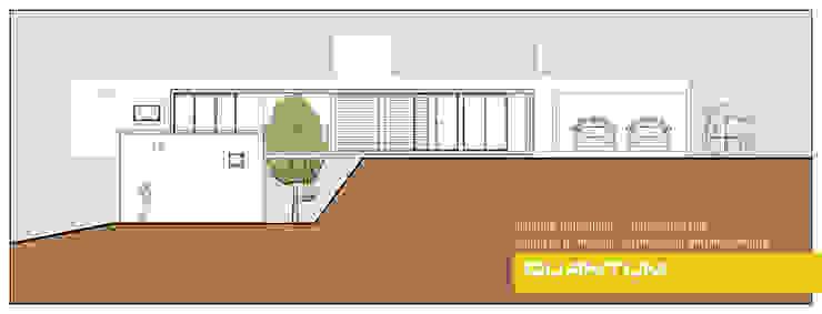 CORTE TRANSVERSAL - VIVIENDA COSTA AZUL Casas minimalistas de Betiana Denardi   Arquitecta Minimalista Vidrio