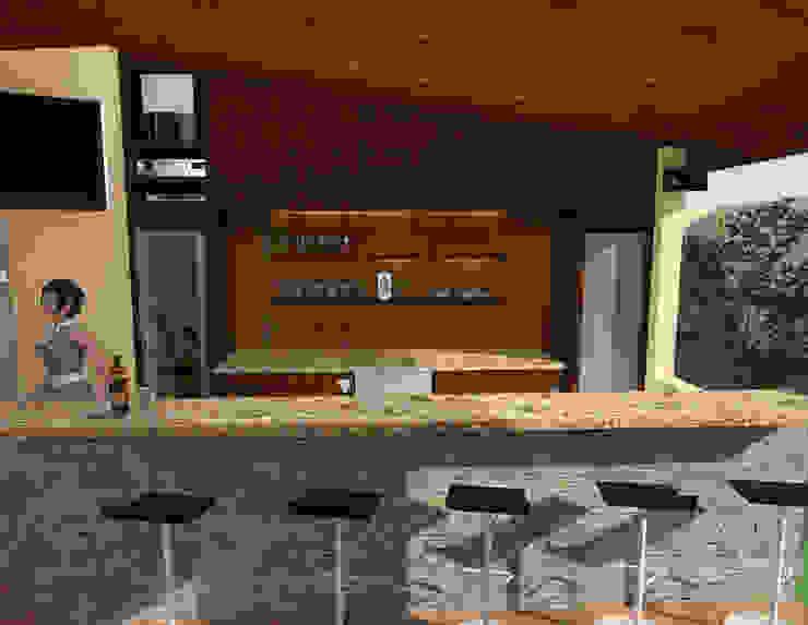Idea y Propuesta 3D Casas modernas de José D'Alessandro Moderno