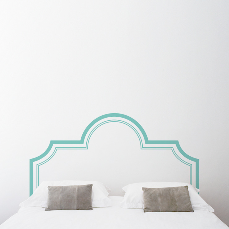 Elegant Headboard Wall Decal Sticker Sirface Graphics Ltd. BedroomBeds & headboards