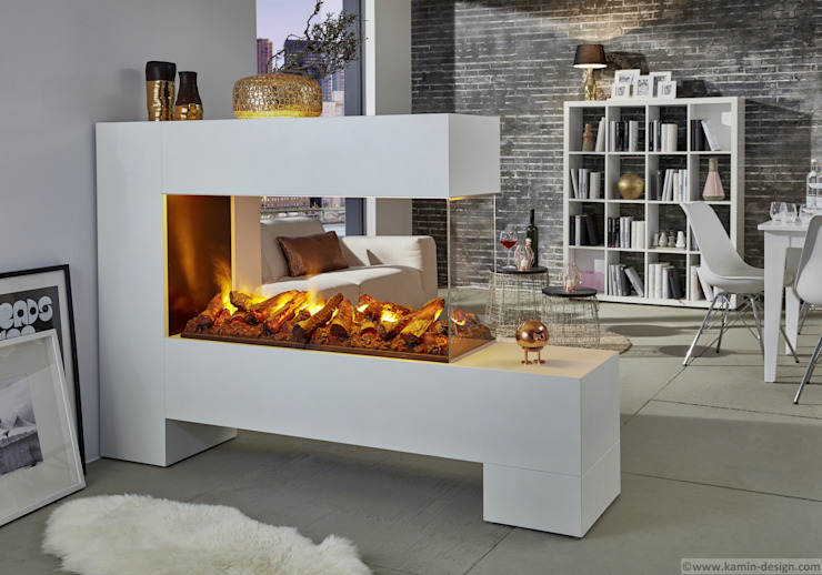 Kamin-Design GmbH & Co KG SalonesChimeneas y accesorios Tablero DM Blanco