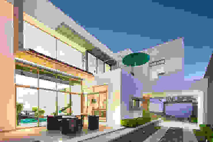 Балкон и терраса в стиле модерн от J-M arquitectura Модерн