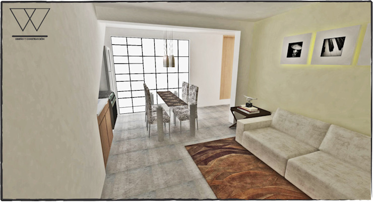 DEPARTAMENTO H.ILUSTRES Salones modernos de WIGO SC Moderno Concreto