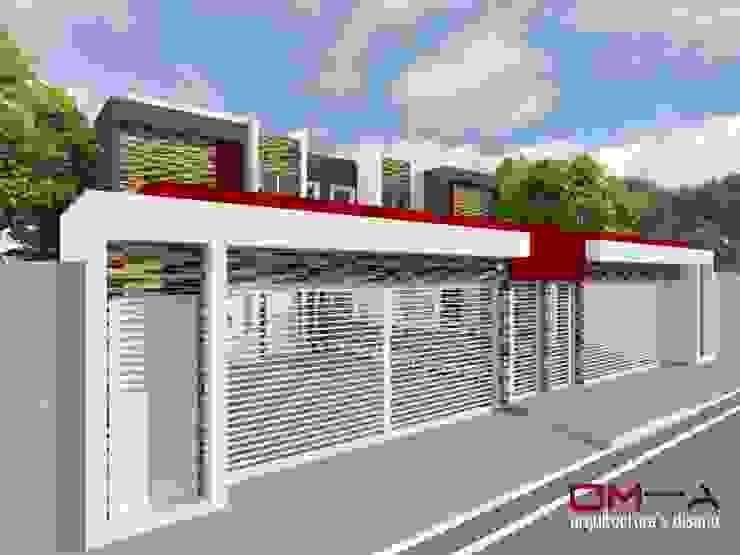 DISEÑO DE VIVIENDA PAREADA Casas de estilo minimalista de om-a arquitectura y diseño Minimalista