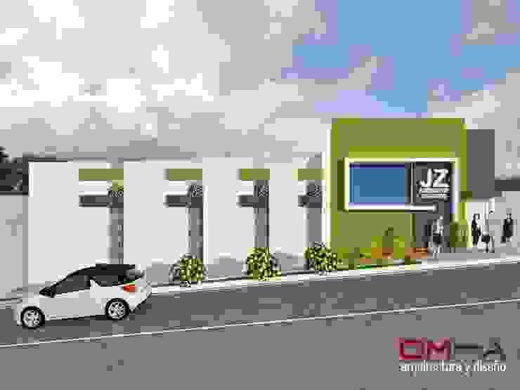 Diseño de fachada de edificio de oficinas Casas de estilo minimalista de om-a arquitectura y diseño Minimalista
