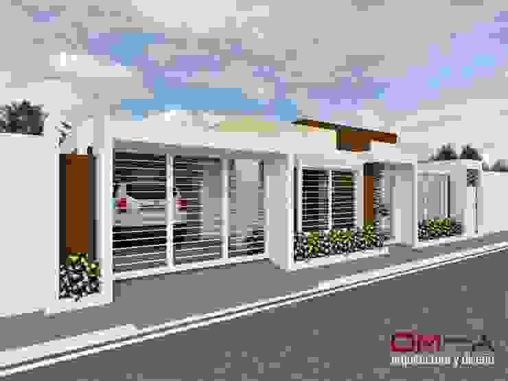 Diseño de vivienda unifamiliar om-a arquitectura y diseño Casas de estilo minimalista