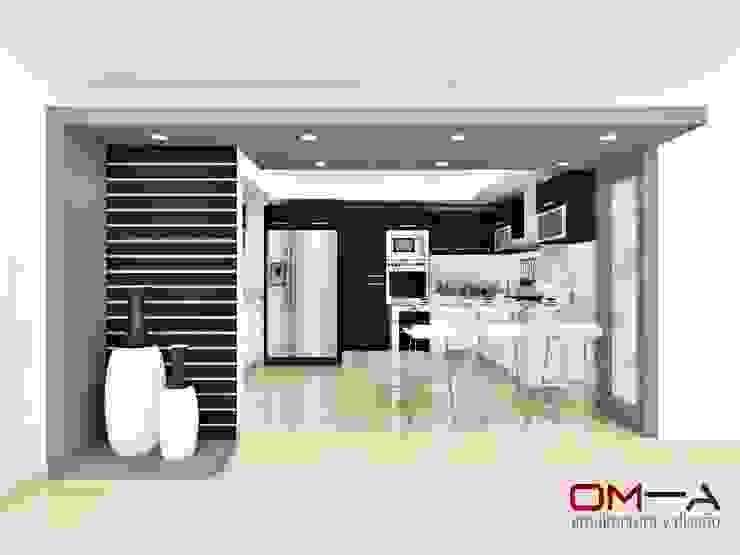 Diseño de cocina Cocinas de estilo minimalista de om-a arquitectura y diseño Minimalista