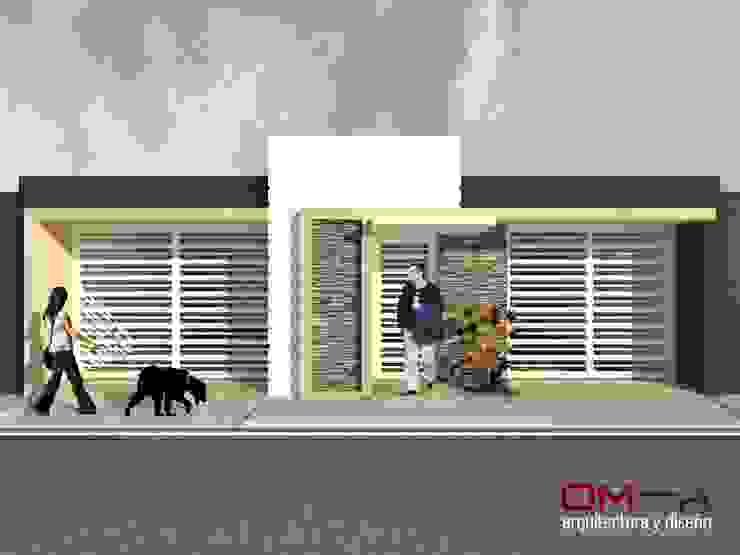 Minimalistische Häuser von om-a arquitectura y diseño Minimalistisch