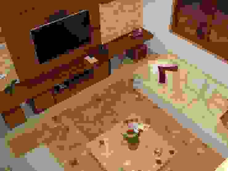 GEA Arquitetura Tropical style living room