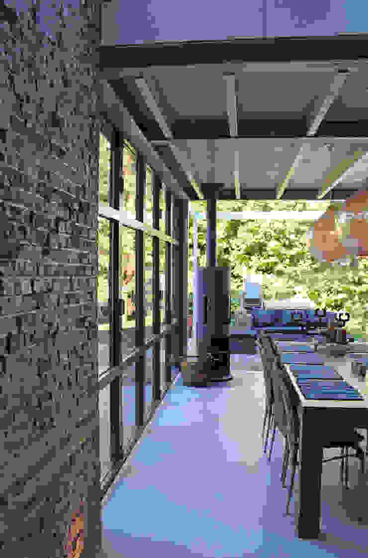 ID-Architectuur Giardino d'inverno in stile industriale Ferro / Acciaio