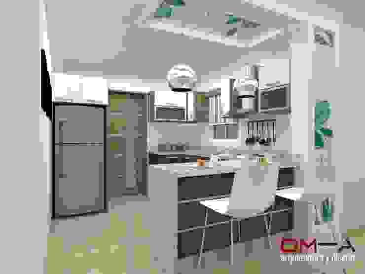 om-a arquitectura y diseño Кухня