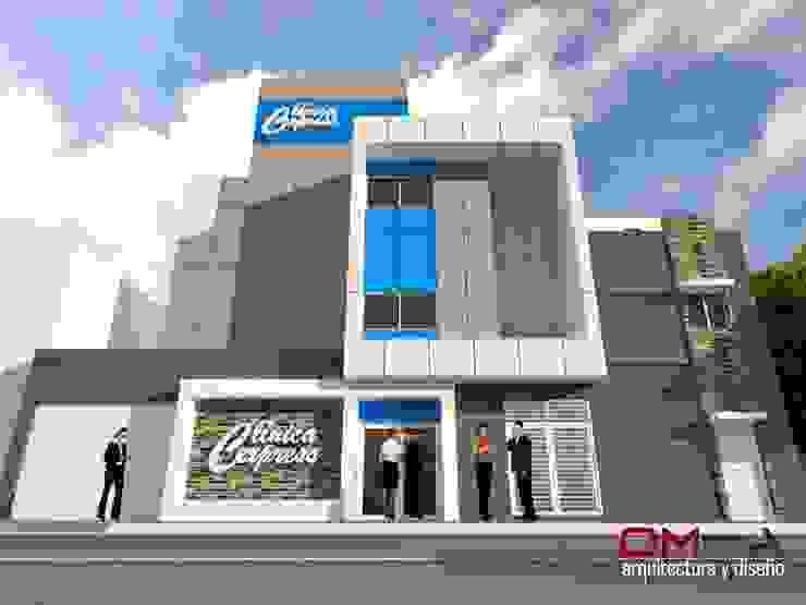 om-a arquitectura y diseño Minimalist houses
