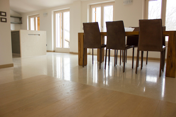 Modern living room by Quintarelli Pietre e Marmi Srl Modern Wood Wood effect