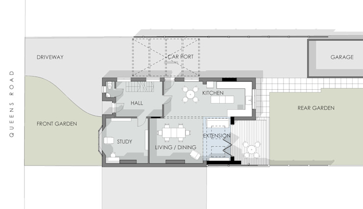 Ground Floor Plan: modern  by Artform Architects, Modern