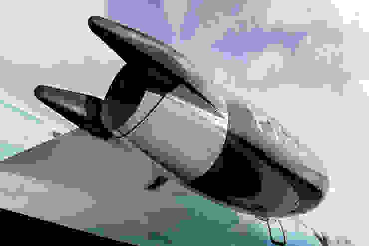 Grafische vormgeving exterieur zakenjet Moderne vliegvelden van All-In Living Modern