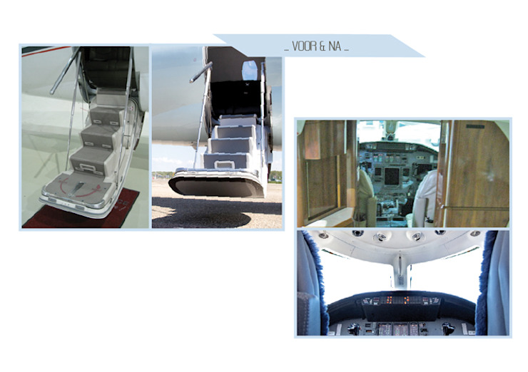Interieur ontwerp zakenjet: modern  door All-In Living, Modern