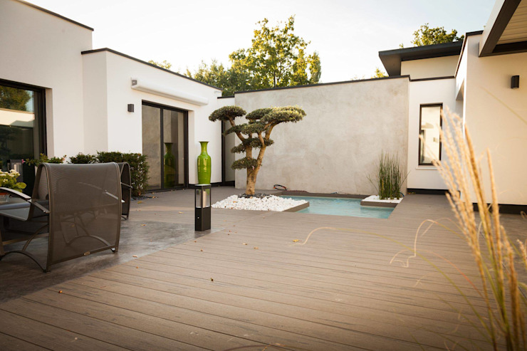 Lame de terrasse en bois composite TimberTech® Terrain TimberTech Balcon, Veranda & Terrasse méditerranéens Bois composite Gris