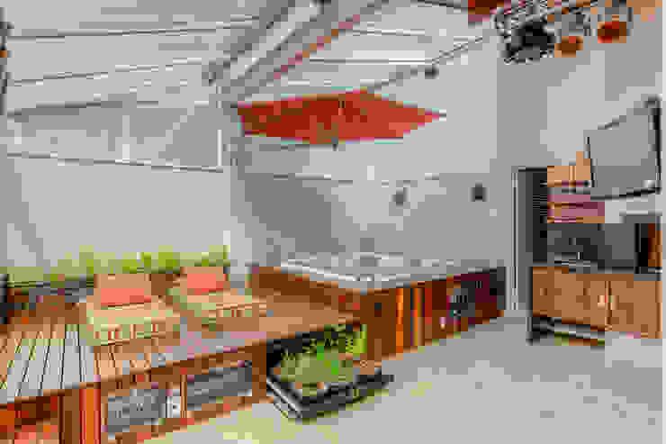 Modern Balkon, Veranda & Teras VL Arquitetura e Interiores Modern