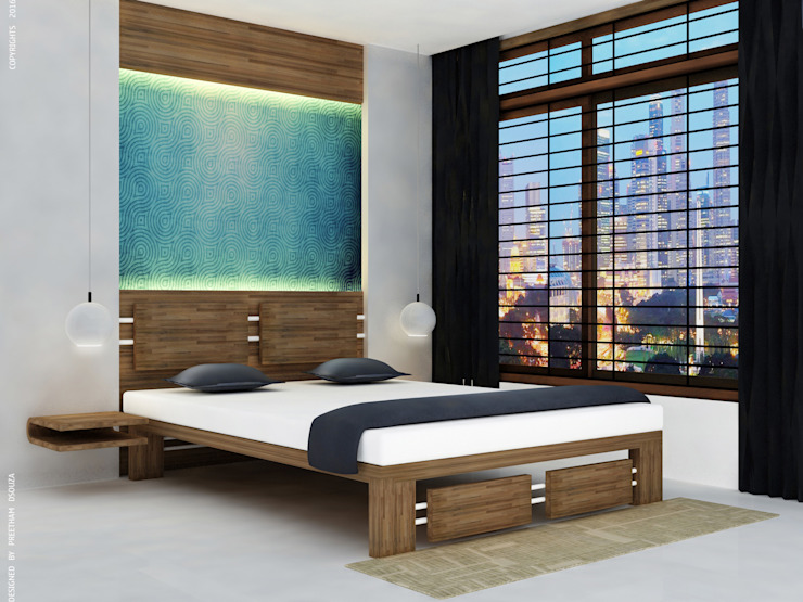 Bedroom Interiors Modern style bedroom by Preetham Interior Designer Modern