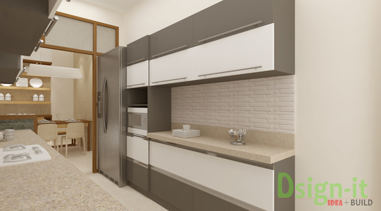 PROJECT-1 ( MR. Sunil , HSR LAYOUT ) Asian style kitchen by Dsign-it Asian